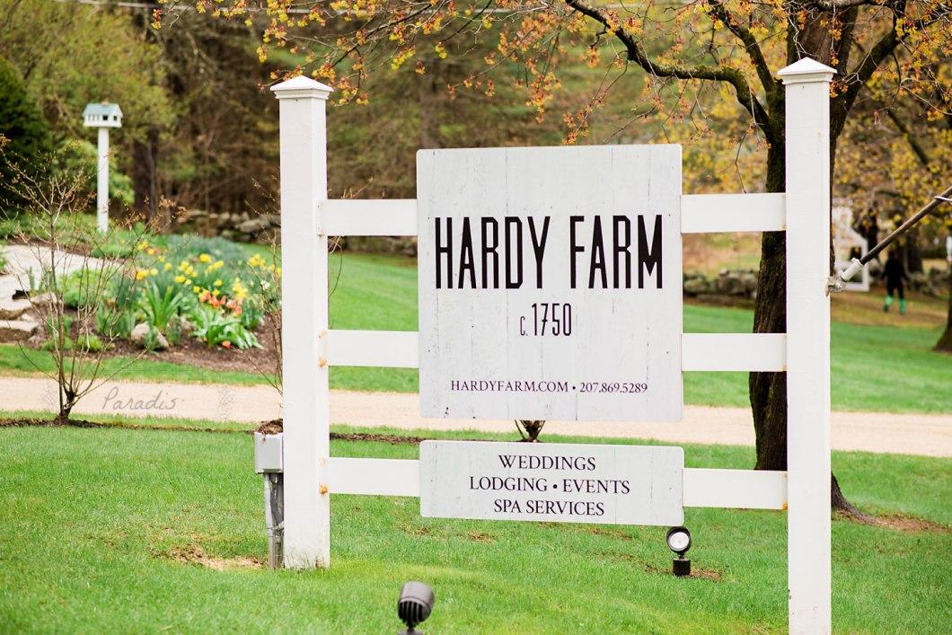 Hardy Farm Sign Southern Maine Wedding Photographer   Paradis Photography