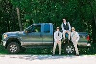 firefighter Maine wedding back yard Paradis Photography