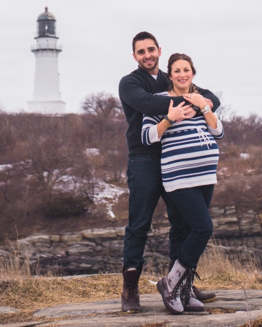 Light house Maternity Photo