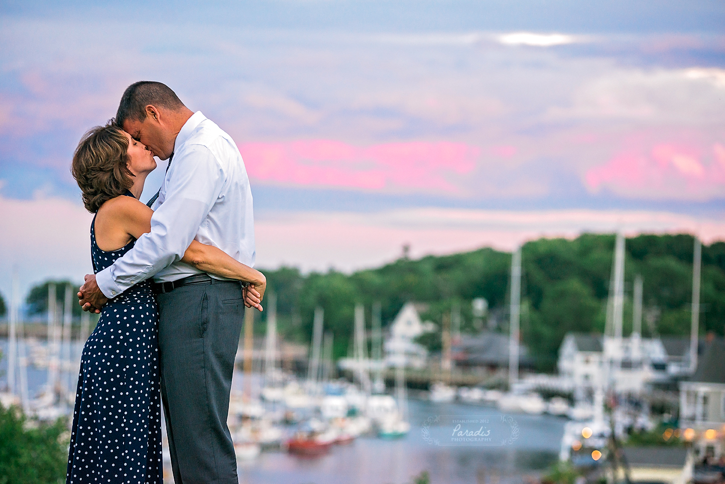 paradis photography maine wedding photographer camden maine sunset anniversary