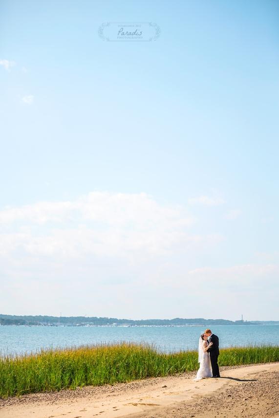 paradis photography new england wedding photographer cape cod beach bride groom