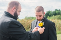 boutonnieres and groom   Paradis Photography #MaineWeddingPhotographer