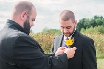 boutonnieres and groom | Paradis Photography #MaineWeddingPhotographer