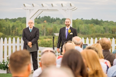 groom during ceremony | Paradis Photography #MaineWeddingPhotographer