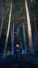 Maine engagement photographer gardens aglow coastal Maine botanical gardens