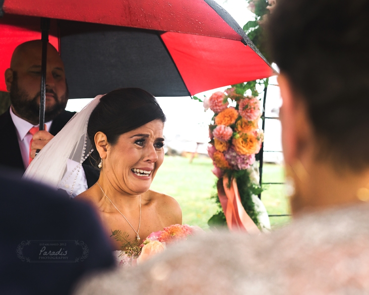 Destination Wedding Photographer romantic rainy day ceremony