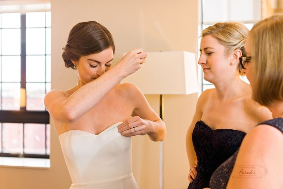 Bride Westin Getting Ready Portland Maine Wedding