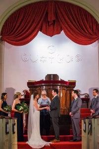 First Parish Portland Maine Bride & Father Wedding Ceremony