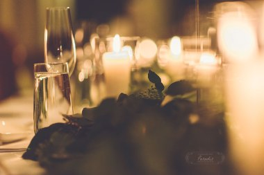 Grace Wedding Reception Candlelit dinner Maine
