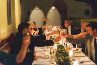 Maine wedding photographer Wedding candlelit dinner Grace Restaurant Maine Paradis Photography