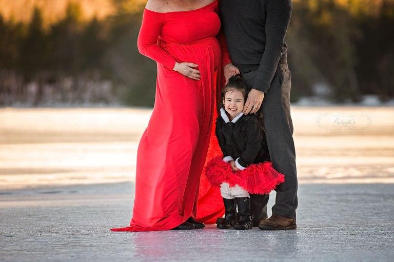 Maine Maternity Photographer | Paradis Photography family winter bridgton