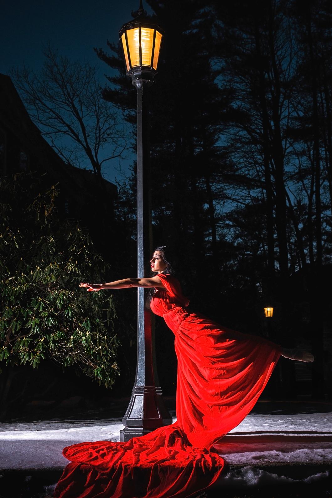 Red Dress Dancer   Paradis Photography