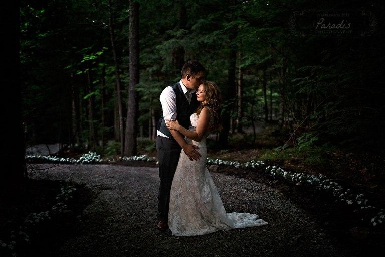 maine wedding, bride, groom, maine woods, maine wedding photographer