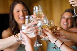 toast, girls, maine wedding photographer, champagne, granite ridge estate, maine wedding