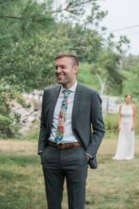 first look, groom, bride, wedding, maine wedding photographer