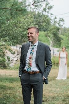 first look, groom, bride, wedding, maine wedding photographer