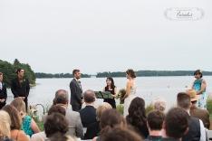 maine wedding photographer, ceremony, wolfes neck farm, ocean view, atlantic ocean, freeport maine