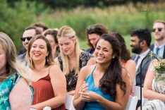 ceremony, wedding guests, laughing, maine wedding photographer