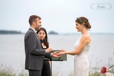 rings, wedding, ceremony, freeport maine, ocean, married, maine wedding photographer