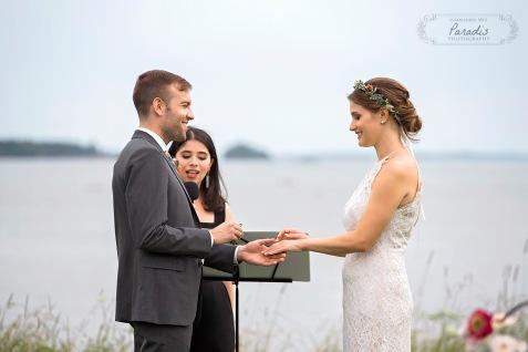 rings, wedding, ceremony, freeport maine, ocean, married, maine wedding photographer