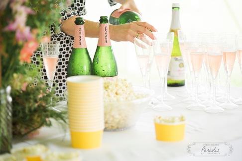 champagne, popcorn, maine wedding photographer