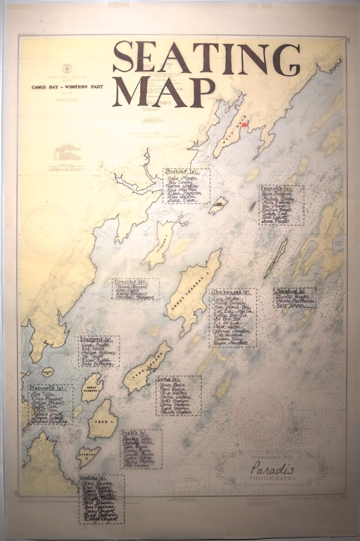maine map, maine seating chart, islands, reception