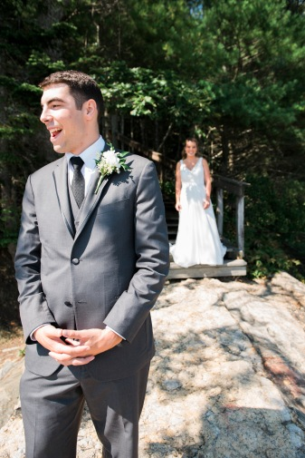 maine wedding, first look, freeport maine, maine destination wedding