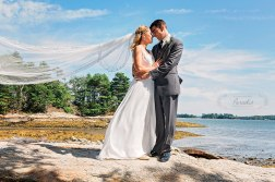 Bride and Groom at Wolfe's Neck State Park