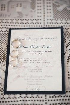 maine coast wedding invitation paradis photography wedding rings