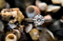Engagement Ring on the beach   Paradis Photography