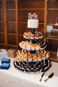 Gluten Free Wedding Cupcake Tower | Paradis Photography