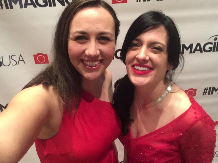 Dressed up for Imaging Awards!