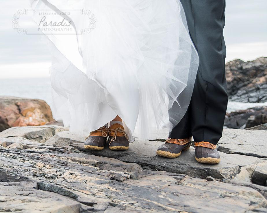 LLBean Boots Marginal Way Ogunquit Maine Wedding