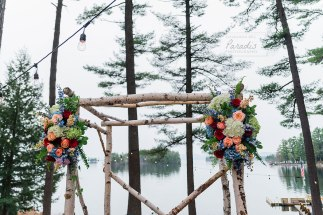 Wedding Arbor with flowers from Marcia Davis | Paradis Photography