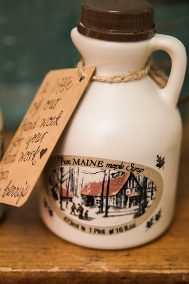 Mr + Mrs Berry tap and boil their own Maine Maple Syrup!